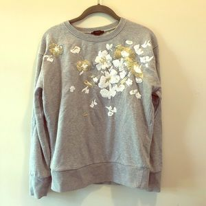 J. Crew embroidered sweatshirt